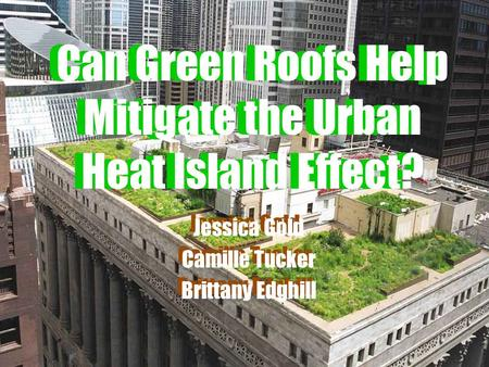 Can Green Roofs Help Mitigate the Urban Heat Island Effect?