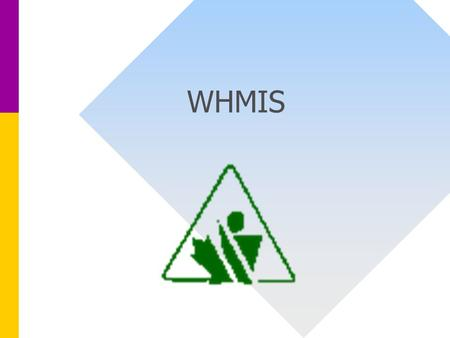 WHMIS. Purpose of WHMIS Workplace Hazardous Materials Information System Provides Information on Hazardous Materials used in Workplace Facilitates the.