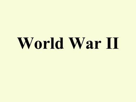 World War II. 6. How did the war in Europe end and what were the peace conditions?