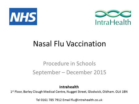 Flu vaccination programme: Phase 2 extension of the programme to ...