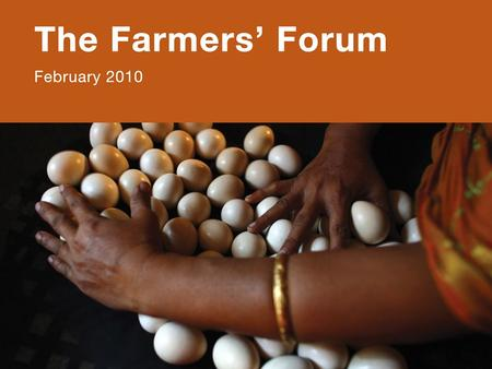 Oslo Conference: Can Africa Feed Itself?. PARTNERSHIPS in PROGRESS: 2008-2009 Content: –Presentation of the methodology of the survey –Evolution of partnerships.