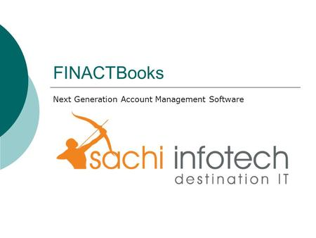 FINACTBooks Next Generation Account Management Software.