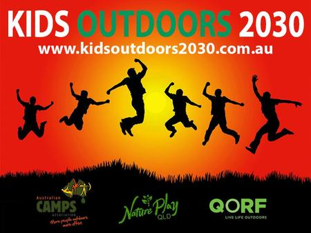 KIDS OUTDOORS 2030 How to Grow a Successful Human University of the Sunshine Coast Dr Rachael Sharman.