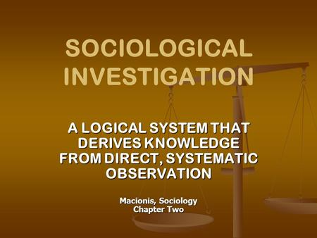investigation social sciences essay