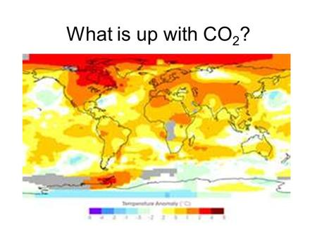 What is up with CO 2 ?. 1870 2005 Temperature is the average kinetic energy.