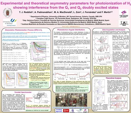 Experimental and theoretical asymmetry parameters for photoionization of H 2 showing interference from the Q 1 and Q 2 doubly excited states T. J. Reddish.