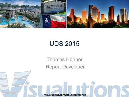 UDS 2015 Thomas Hohner Report Developer. What will be covered today UDS 2015 Reporting Suite – Data Overview – Maintenance Reports – Core Reports – Detail.