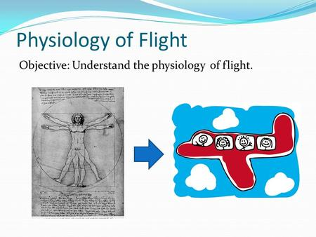 Physiology of Flight Objective: Understand the physiology of flight.