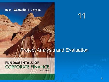 11 0 Project Analysis and Evaluation. 1 Key Concepts and Skills  Understand forecasting risk and sources of value  Understand and be able to do scenario.