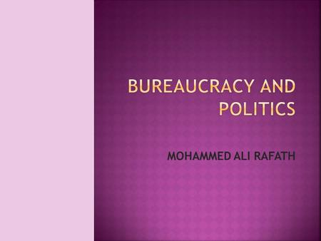 MOHAMMED ALI RAFATH. TITLE BUREAUCRACY AND POLITICS AUTHOR MOHAMMED ALI RAFATH PRICE Rs.515 only PUBLICATION RAWAT PUBLICATION GENRE RESEARCH WORK.