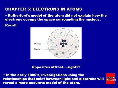 CHAPTER 5: ELECTRONS IN ATOMS