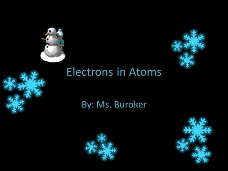 Electrons in Atoms By: Ms. Buroker. Okay … We now know that an element's identity lies in its number of protons … but there is another particle which.