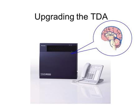 Upgrading the TDA.