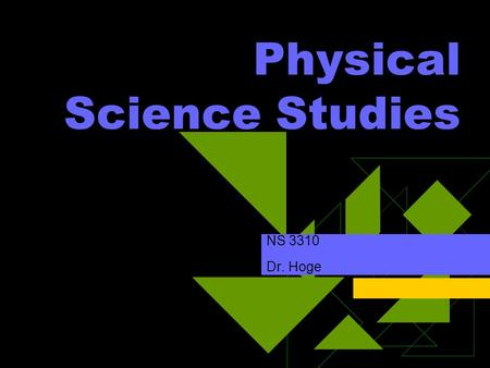 Physical Science Studies