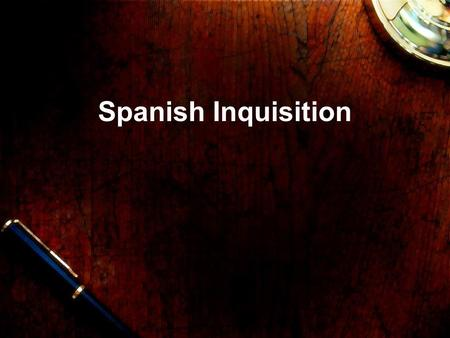 Spanish Inquisition Ferdinand and Isabella United in marriage as a way to unify Spain and expand their power and control. Strong Christians and wanted.