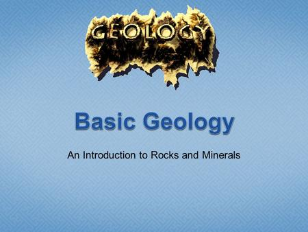 An Introduction to Rocks and Minerals.  Rocks and minerals are often referred to as the same thing. In fact, they are not the same.  A mineral is a.