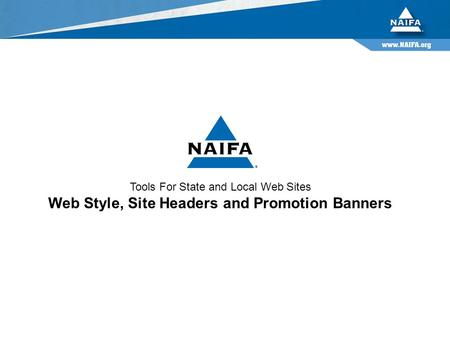 Tools For State and Local Web Sites Web Style, Site Headers and Promotion Banners.