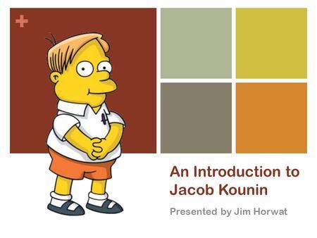 theories of instructional management jacob kounin