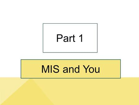 MIS and You Part 1. Part1-2 Purpose of Part 1 Copyright © 2014 Pearson Education, Inc. Publishing As Prentice Hall Demonstrate why MIS is important to.