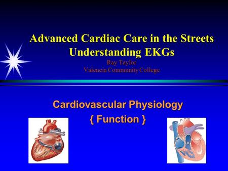 Cardiovascular Physiology { Function }