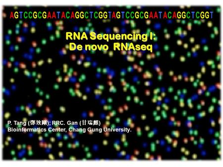 RNA Sequencing I: De novo RNAseq