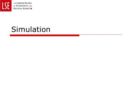 Simulation. Downloads  Today's work is in: matlab_lec03.m  Datasets we need today: data_msft.m.