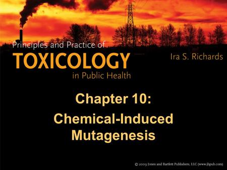 Chapter 10: Chemical-Induced Mutagenesis. DNA and Mutations A mutation is a permanent change in the DNA. DNA is in our chromosomes and it codes for all.