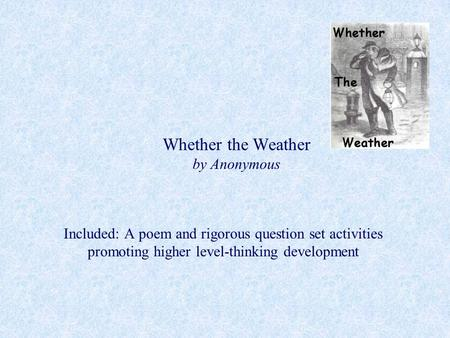 Whether the Weather by Anonymous