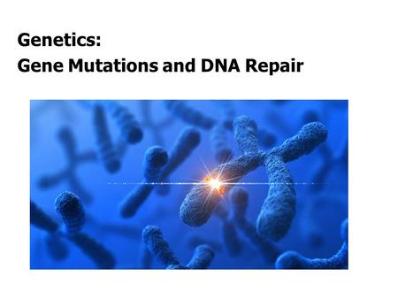 Genetics: Gene Mutations and DNA Repair. INTRODUCTION The term mutation refers to a heritable change in the genetic material Mutations provide allelic.