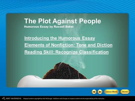 The Plot Against People