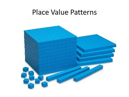 Place Value Patterns.