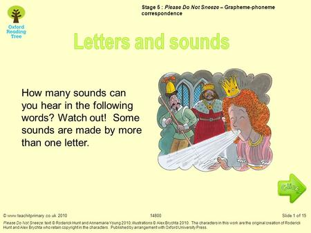 How many sounds can you hear in the following words? Watch out! Some sounds are made by more than one letter. Stage 5 : Please Do Not Sneeze – Grapheme-phoneme.
