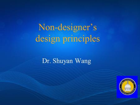 the basic principles of designing as discussed in the non designers design book by robin williams As discussed in class, the design script for this project is on picture design / designing with pictures read robin williams, non-designer's design book.