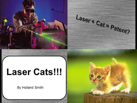 Laser Cats!!! By Holland Smith Cats. US patent #5443036: Method for Exercising a Cat Filed: November 2 nd, 1993 Granted: August 22 nd, 1995 The problem?