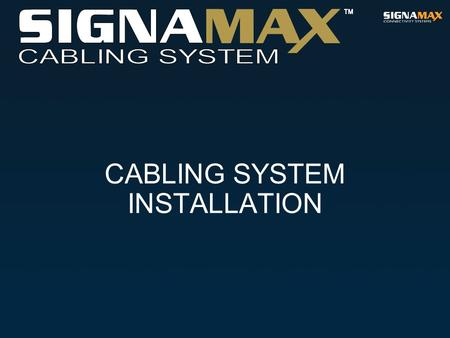 CABLING SYSTEM INSTALLATION. Installation Quality The quality of installation is the most serious problem in implementation of the telecommunications.