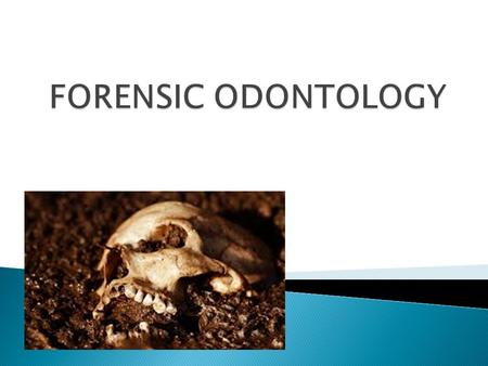  Application of dental science to the identification of human remains and bite marks using physical and biological evidence.