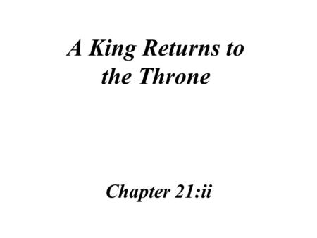A King Returns to the Throne Chapter 21:ii Charles II accepted limits on his rule when he agreed to respect the Magna Charta and the Petition of Right.