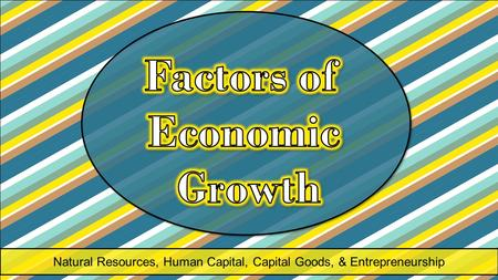 Natural Resources, Human Capital, Capital Goods, & Entrepreneurship.