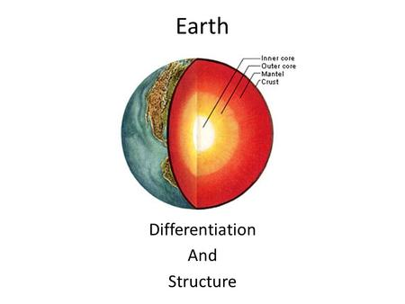 Earth Differentiation And Structure. Differentiation As the newly formed Earth was still liquid denser elements dropped to the core of the Earth and less.
