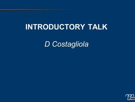 INTRODUCTORY TALK D Costagliola. Chapter 1 THE CURRENT DEBATE ON ABACAVIR.
