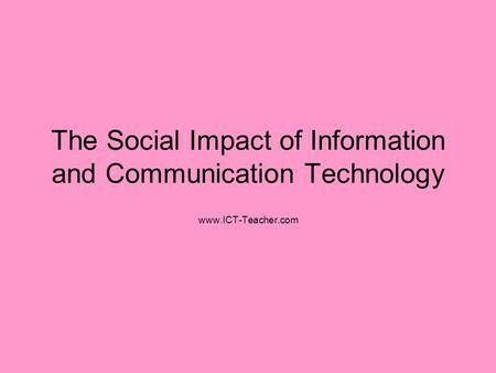 the impact of information and communication The international journal of communication is an online, multi-media,  the impact of icts on citizens' political communication beyond the western state.