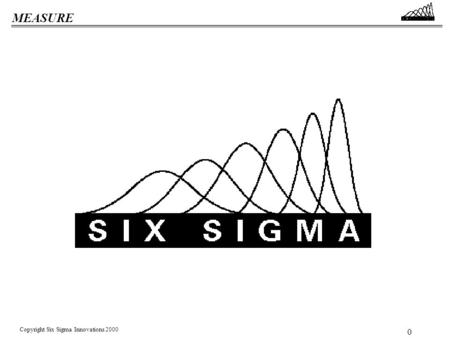 MEASURE Copyright Six Sigma Innovations 2000 0 MEASURE Copyright Six Sigma Innovations 2000 1 Where Will Six Sigma Get Us? Everyone will be focused on.