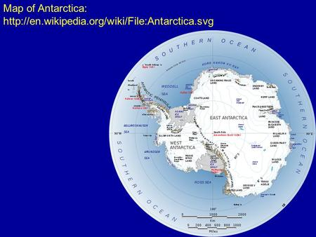 Map of Antarctica: