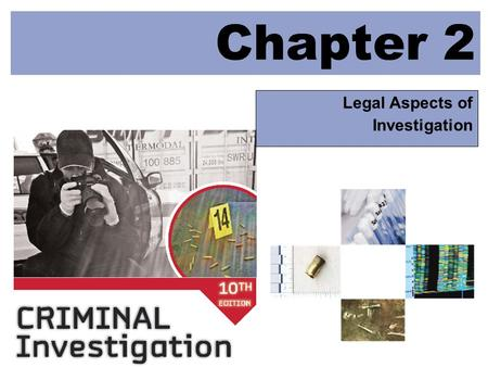 Chapter 2 Legal Aspects of Investigation © 2009 McGraw-Hill Higher Education. All rights reserved. LEARNING OBJECTIVES Explain the historical evolution.
