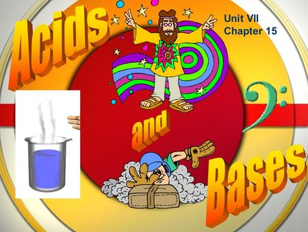 Unit VII Chapter 15. Properties Both acids and bases ionize or dissociate in water Acids: taste sour, conduct electricity, cause certain indicators to.