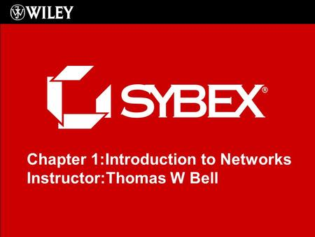 Click to edit Master subtitle style Chapter 1:Introduction to Networks Instructor:Thomas W Bell.