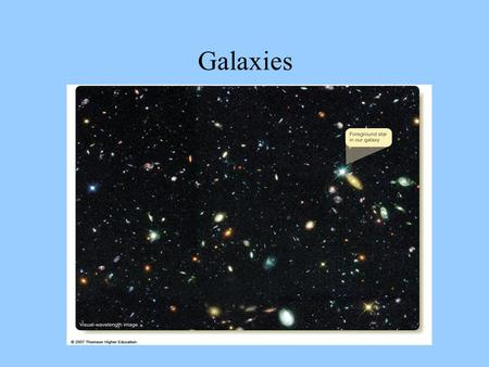 Galaxies. There are three basic types of galaxies: Spirals Ellipticals Irregulars.