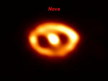 Nova. Nova – Rapid increase in luminosity of a white dwarf in a binary system The Roche lobe is the region of space around a star in a binary system within.