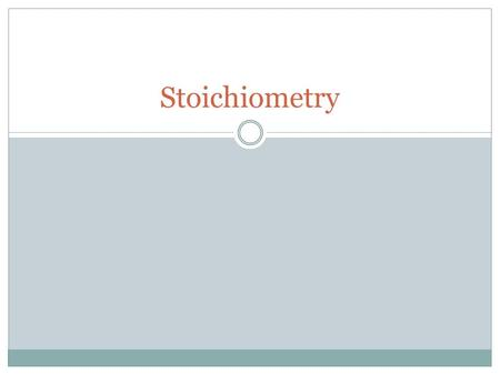 Stoichiometry. The study of chemical changes is at the heart of chemistry. Stoichiometry is the area of study that examines the quantities of substances.