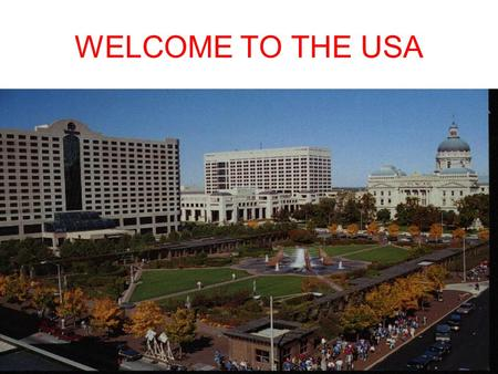 WELCOME TO THE USA. THE INDIANA STATE THE LIFE OF INDIANA STATE Indiana State is situated in the north of the USA. The aria is 94 thousand sq. km. The.